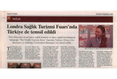 Londra Sağlık Turizmi Fuarı'nda Türkiye de Temsil Edildi
